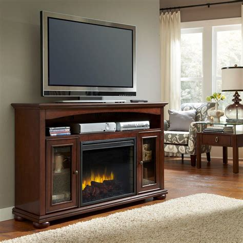 pleasant hearth everest 56 in convertible media console