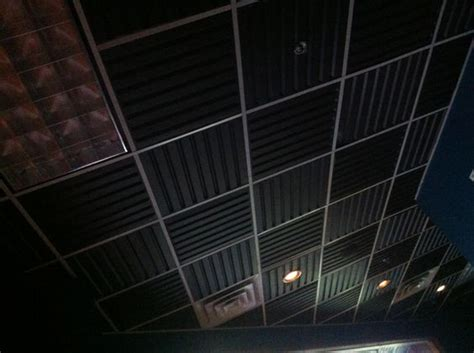 ceiling tiles with sound proofing cabin basement