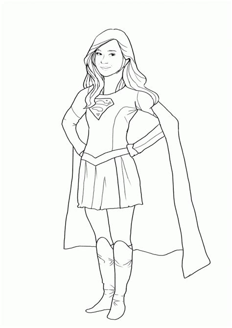 coloring page supergirl coloring pages best coloring pages for