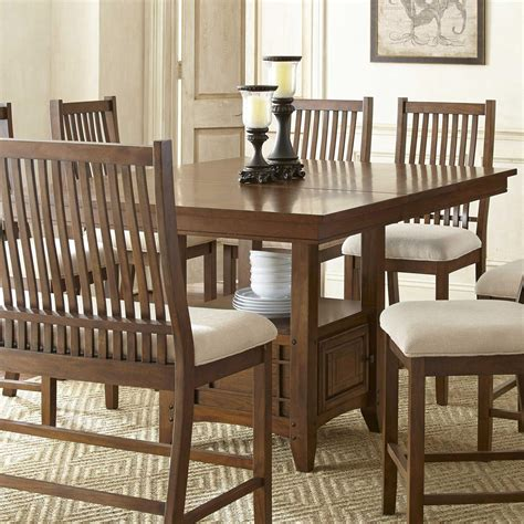 pub style dining table with storage steve silver kayan counter height table with storage