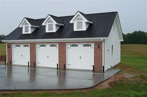 three car garage garage plans brick section sheds