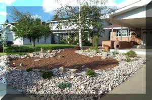 xeriscape designs sles of front and back yards a rather stark design but water requirement