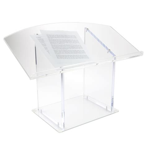 acrylic solid panel table top podium buy acrylic
