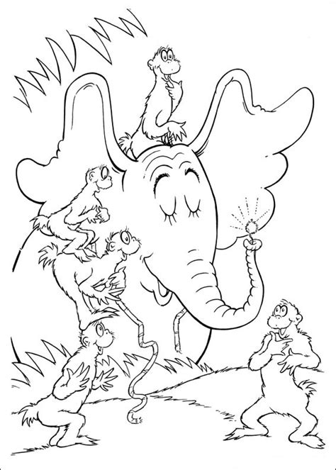 fun coloring pages horton dr seuss coloring pages