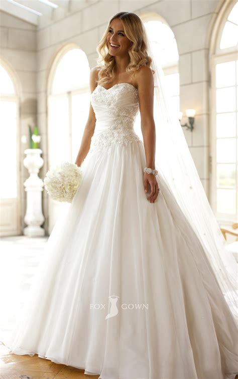chic collection strapless ball gown wedding dresses for