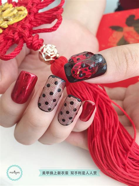 new year nails 2018 new year nail 2018 cny manicure maniqure