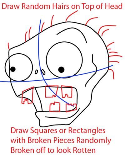 zombie tutorial game step step 0529 how to draw zombie from plants vs zombies