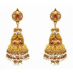 earing design south indian weddings designs for gold jhumkas