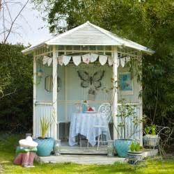 Summer Home Decor Ideas Pale Blue Garden Summerhouse Contemporary Country