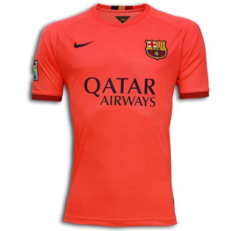 Barcelona Signature 1 T Shirt fc barcelona half sleeve away shirt 2014 15