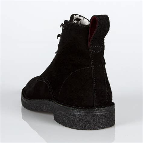 black suede boots mens paul smith s black suede echo boots in black for
