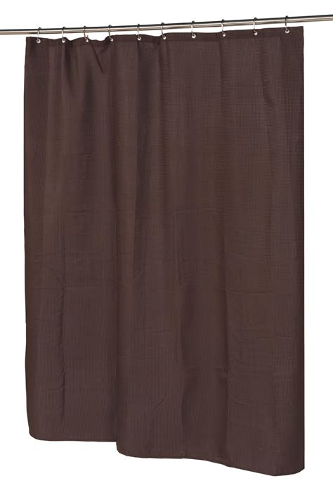 brown waffle shower curtain carnation home fashions inc gallery