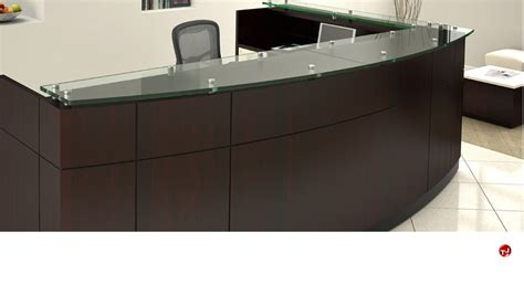 L Shaped Reception Desk The Office Leader Contemporary Laminate L Shape Reception Desk Workstation Glass Counter