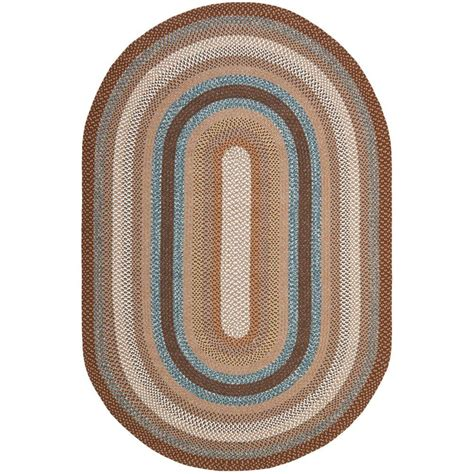braided oval area rugs safavieh braided brown multi 8 ft x 10 ft oval area rug
