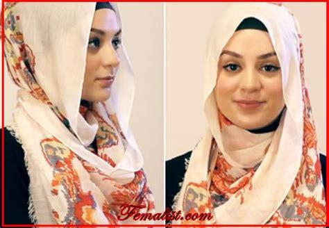 tutorial hijab menutup dada tutorial hijab pasmina motif menutup dada praktis dan manis