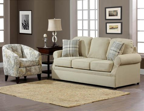 fabric modern sofa accent chair set w options