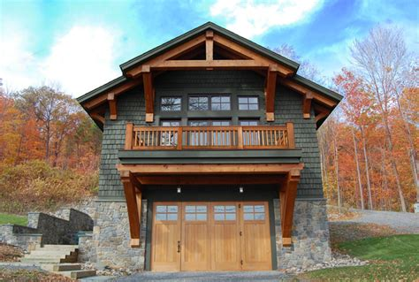 Timber Frame Garage With Living Quarters by Timber Frame Home Boat Shelter
