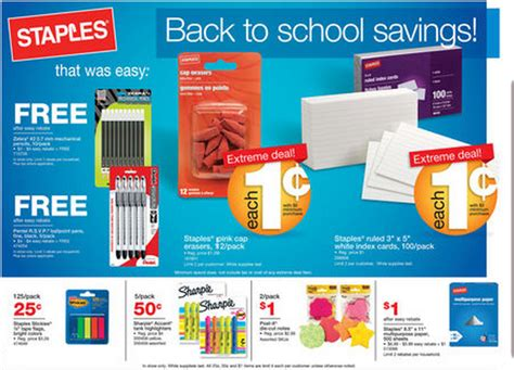 staples back to school deals for july 22 28 2012 money