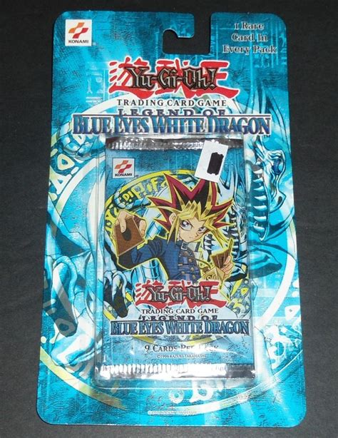 original legend of blue white blister pack sealed lob yugioh cards ebay