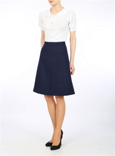Tweed A Line Skirt harris tweed skirt pencil skirt taolored skirt