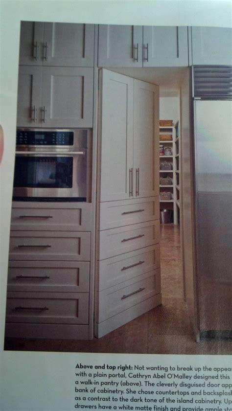 cool disguised door  giant pantry house rental dream