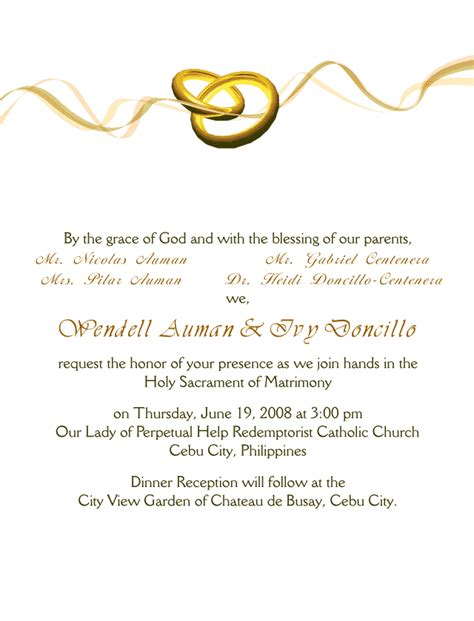 Invitation Letter Design Wedding Invitation Cards