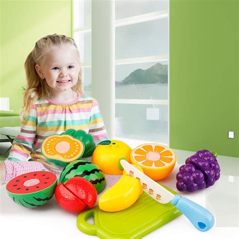 Mainan Anak Buzz Wire Small Farm mainan anak miniatur buah dan sayur 6 pcs multi color