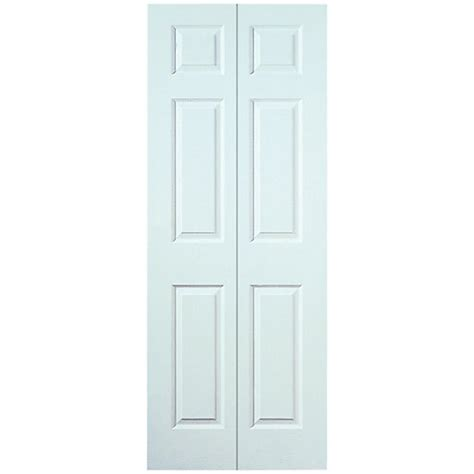 Wicks Interior Doors Wickes Woburn Bi Fold Door White Grained Moulded 6 Panel 1981x686mm Wickes Co Uk