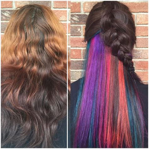 peek a boo hair color transformation quot quot peek a boo haircolor