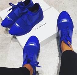 shoes balenciaga royal blue sneakers brand pretty blue high quality wheretoget