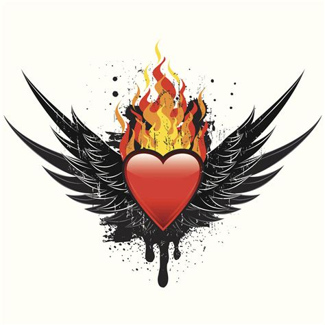 flaming heart tattoo
