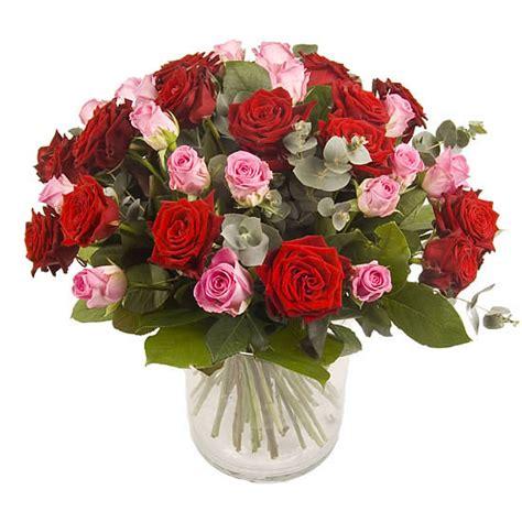 de laares bloemen es prijs roze en rode rozen via 123bloemenbestellen nl