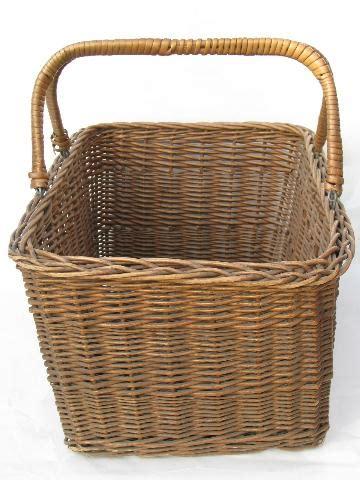 To Market Recap Picnic Basket by Vintage Wicker Market Basket Open Picnic Her W Handles