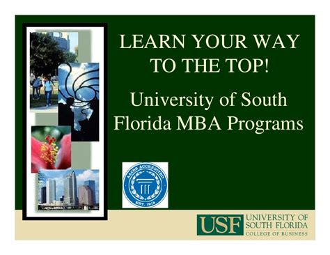 Usf Mba Program by Usf Mba Program 2009 2010