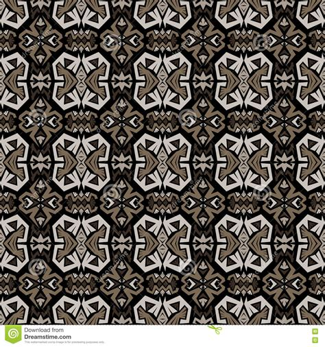 seamless tribal pattern vector black seamless tribal pattern in doodle style