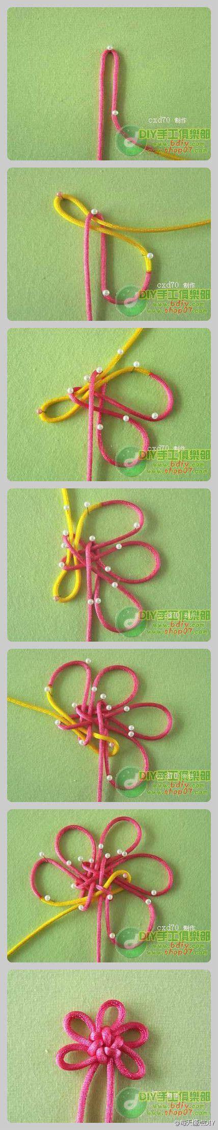 Macrame Flower Knot - cool knot diy