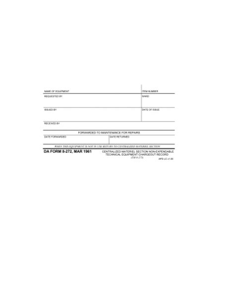 centralized section 8 download da form 8 272 centralized materiel section non