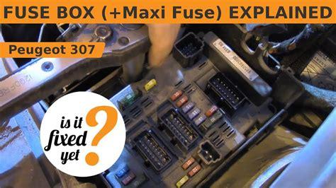 fuse box  maxi fuse explained peugeot  sw youtube