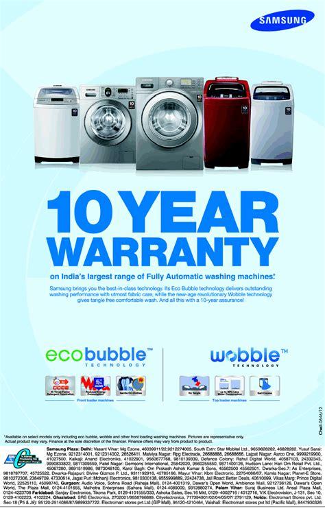 samsung washing machines  years warranty mumbai