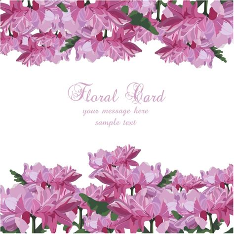 card template for flowers watercolor floral card template vector free