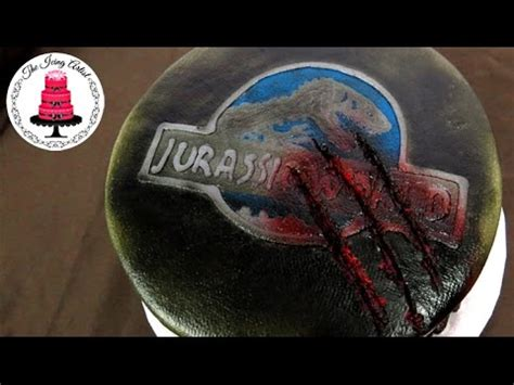 jurassic world buttercream cake how to with the icing