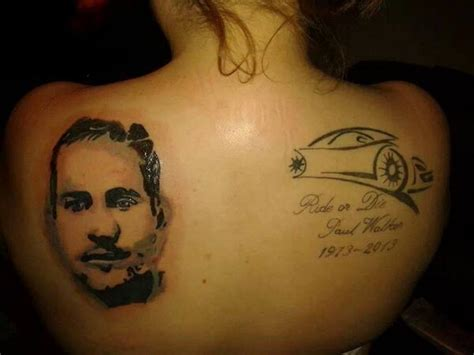 does vin diesel have tattoos paul walker fans paulwalkerfan4