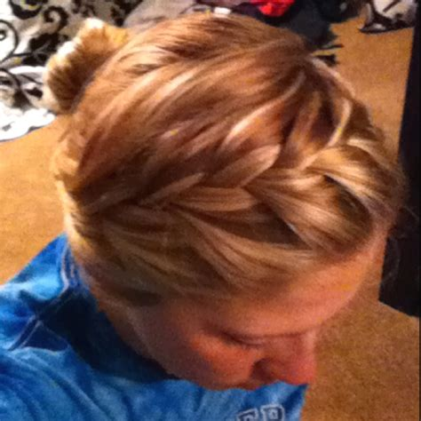 french braid across the top 17 best images about hurr on pinterest cute short hair