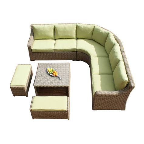wide corner sofa wide weave curve corner sofa set by out there exteriors