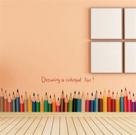 pencil border pencil colours border wall decal vision gclipart