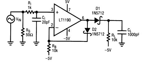 pulse detector circuit diagram fast pulse detector measuring and test circuit circuit
