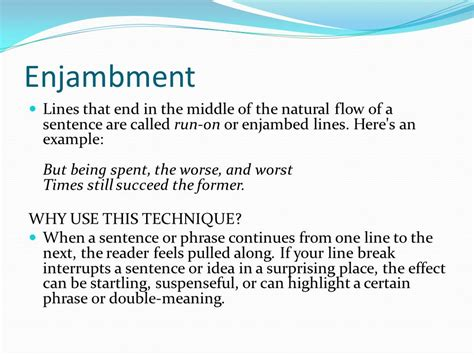 exle of enjambment warm up write an acrostic poem ppt