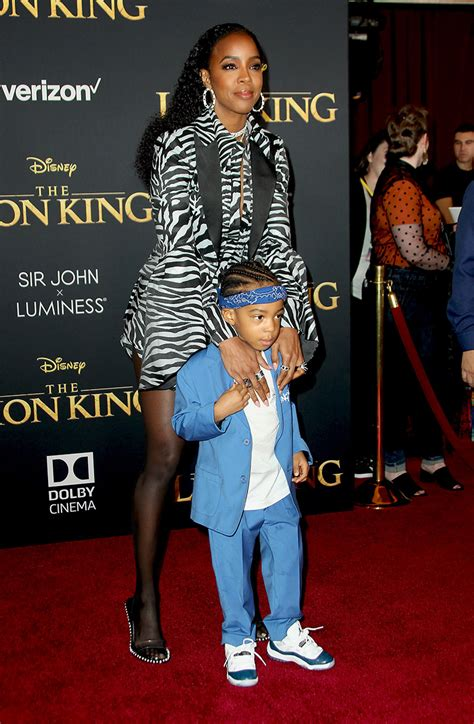 kelly rowland son titan jewell attend  hollywood