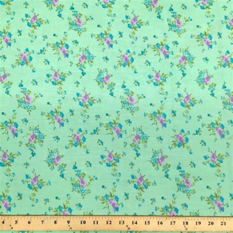 printable fabric by the yard finch green print fabric cotton polyester broadcloth by