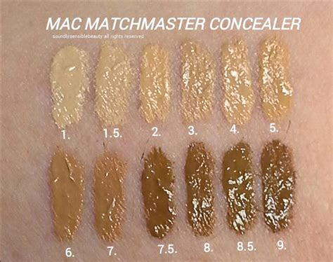 Mac Matchmaster Concealer mac matchmaster concealer stick review swatches of shades